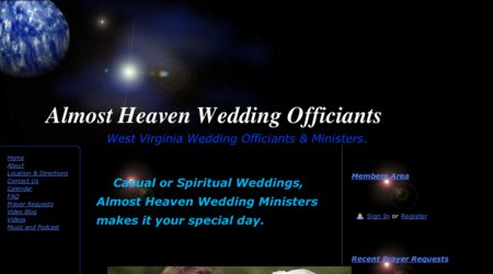 Almost Heaven Wedding Ministers in West Virginia