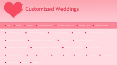 Customized Weddings