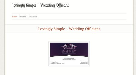 Lovingly Simple ~ Wedding Officiant