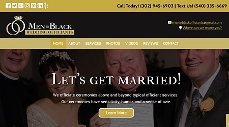 Men In Black Wedding Officiants