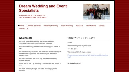 Dream Wedding Specialists (Officiants)
