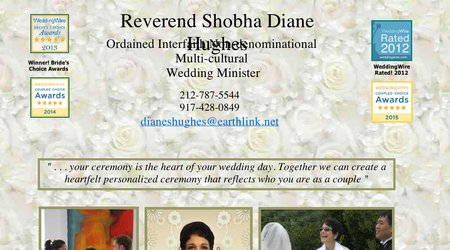 Shobha Hughes Wedding Minister New York City
