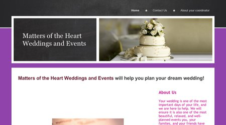 Matters of the Heart Weddings and Events