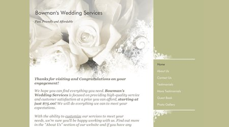 Bowman's Wedding Services