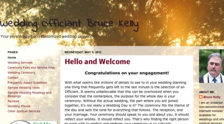 Wedding Officiant Bruce Kelly