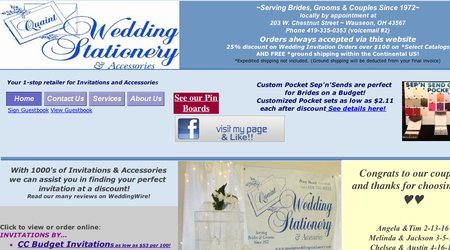 Quaint Wedding Stationery & Accessories