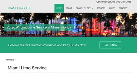 Limousine Service of Miami Florida