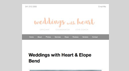 Weddings with Heart & Elope Bend