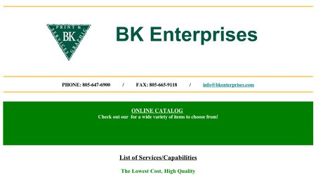 BK Enterprises, Print and Graphic Services
