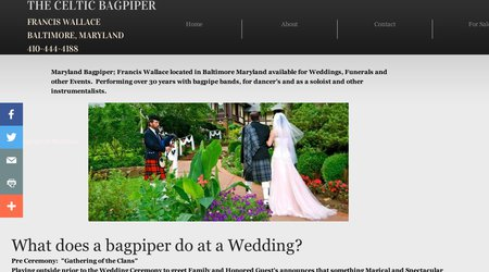 Baltimore Wedding Bagpiper