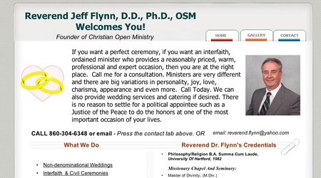 Rev. Dr. Jeff Flynn Experience-Credentials