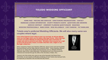 Toledo Wedding Officiant