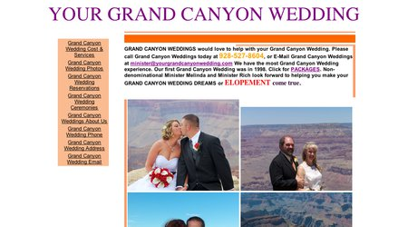 Your Grand Canyon Wedding