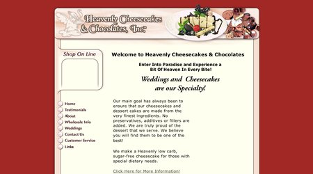 Heavenly Cheesecakes and Chocolates
