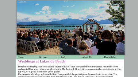 Weddings at Lakeside Beach