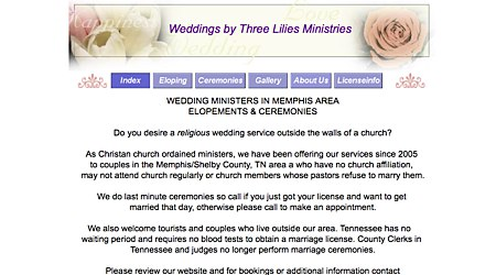 Weddings by Three Lilies Ministries