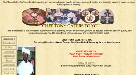 Chef Tony Caters To You