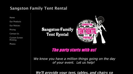 Sangston Family Tent Rental