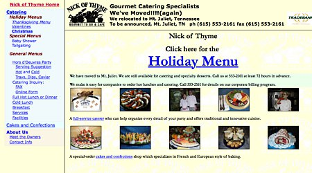 Nick of Thyme Gourmet Catering