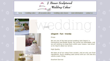 J. Bauer Sculptured Wedding Cakes