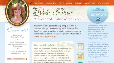 Debra Grow - Minister and Justice of the Peace