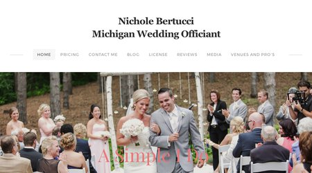 Nichole Bertucci, Wedding Officiant