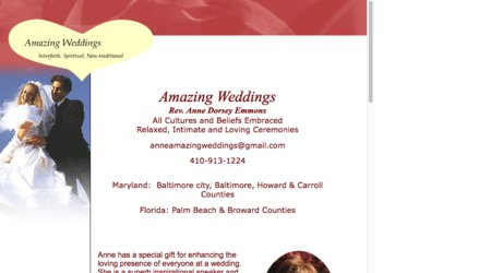 Amazing Weddings, Rev. Anne B. Dorsey