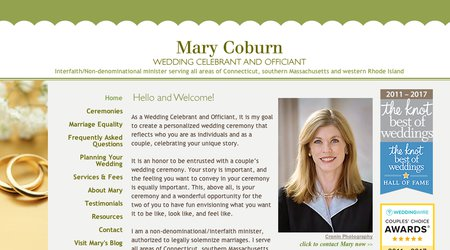 Mary Coburn, Wedding Officiant