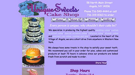 Unique Sweets Cake Shop