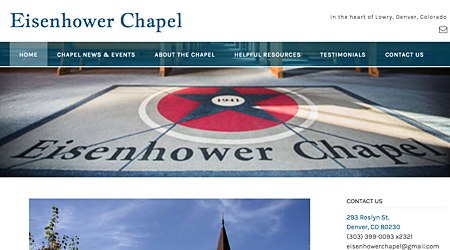 Eisenhower Chapel in Lowry