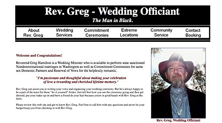 Rev. Greg - Wedding Officiant