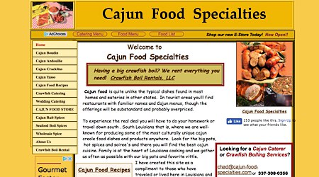 Cajun Food Specialties