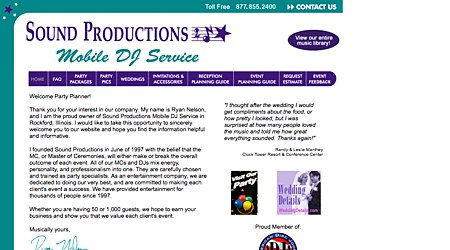 Sound Productions Mobile Music DJ Service