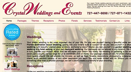 Crystal Wedding and Events