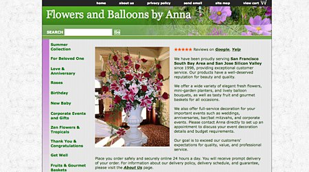 Flowers and Balloons by Anna