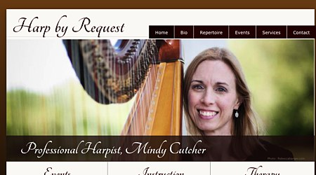 Mindy Cutcher, Harpist