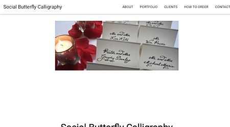 Social Butterfly Calligraphy