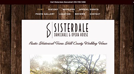 Sisterdale Texas Dancehall and Event Center
