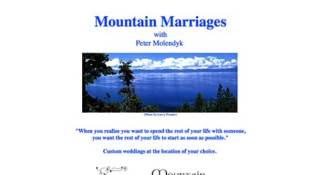 Mountain Marriages with Peter Molendyk