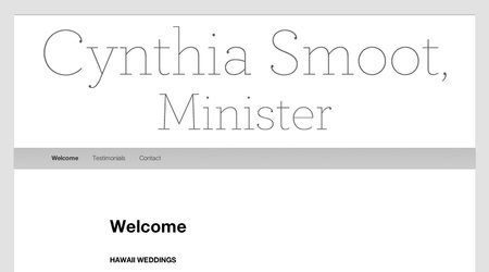 Cynthia Smoot, Minister