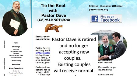 Tie the Knot with Pastor Dave - Humanist Officiant