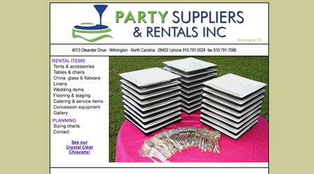 Party Suppliers & Rentals