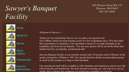 Sawyer's Banquet Facility