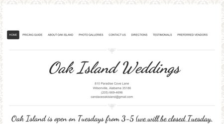 Antebellum Weddings at Oak Island