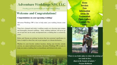 Adventure Weddings NW
