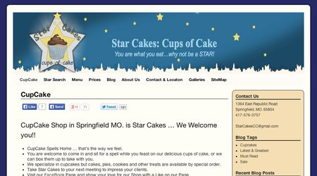 Star Cakes - Cups of Cake