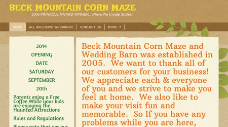 Beck Mountain Corn Maze