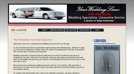 Wedding Specialists Limousine Service