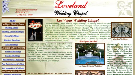 Loveland Las Vegas Wedding Chapel