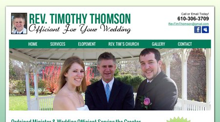Rev. Tim Thomson, Officiant For Your Wedding